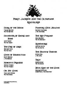 Percy Jackson And the Olympians ReadAlikes