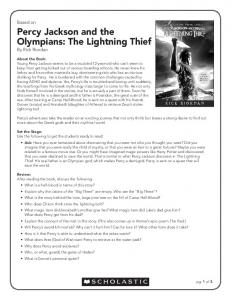 Percy Jackson and the Olympians: The Lightning Thief