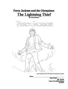 Percy Jackson Packet