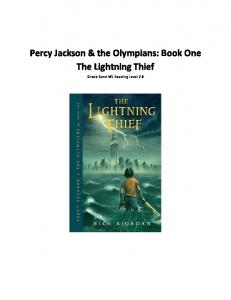 Percy Jackson & the Olympians: Book One The Lightning Thief