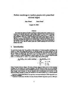 Perfect matchings in random graphs with prescribed minimal degree ...