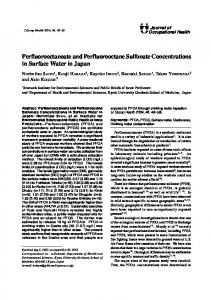 Perfluorooctanoate and Perfluorooctane Sulfonate Concentrations in ...