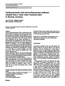 Perfluorooctanoic acid and perfluorooctane sulfonate ... - Springer Link