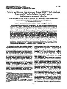 Perforin and Gamma Interferon Are Critical CD8 T-Cell-Mediated ...