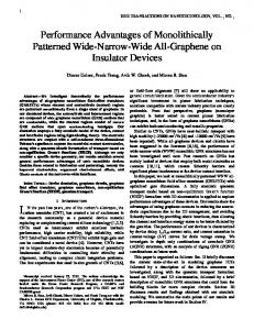 Performance Advantages of Monolithically Patterned Wide ... - arXiv