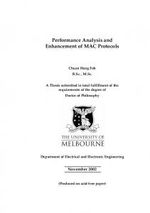 Performance Analysis and Enhancement of MAC Protocols