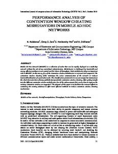 performance analysis of contention window cheating ... - arXiv