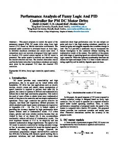 Performance Analysis of Fuzzy Logic And PID Controller for PM DC