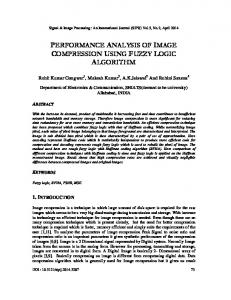 performance analysis of image compression ... - Aircc Digital Library