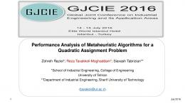 Performance Analysis of Metaheuristic Algorithms for