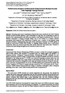 Performance Analysis of Multicarrier Code Division Multiple Access ...