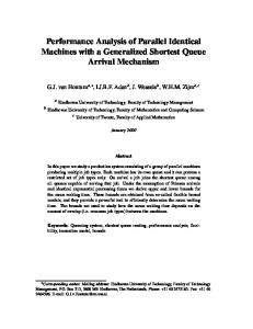 Performance Analysis of Parallel Identical Machines with a ...