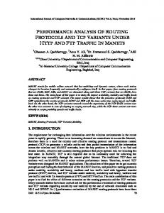 PERFORMANCE ANALYSIS OF ROUTING PROTOCOLS AND TCP ...