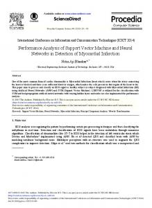 Performance Analysis of Support Vector Machine and Neural ...