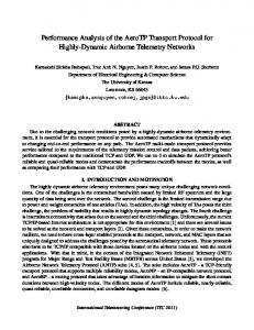 Performance Analysis of the AeroTP Transport Protocol for ... - Ittc.ku.edu