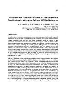 Performance Analysis of Time-of-Arrival Mobile