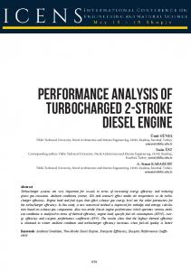 Performance Analysis of Turbocharged 2-Stroke