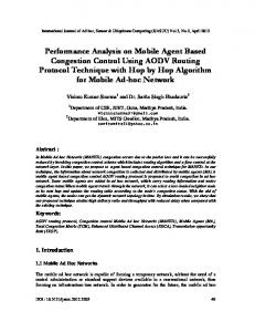 Performance Analysis on Mobile Agent Based Congestion Control ...