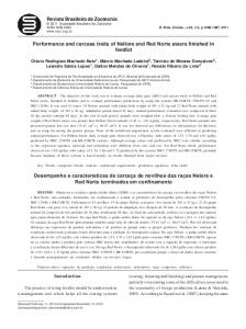 Performance and carcass traits of Nellore and Red Norte ... - SciELO