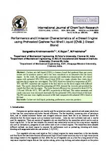 Performance and emission characteristics of a diesel engine using ...