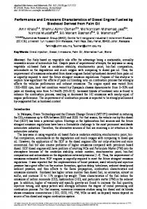 Performance and Emissions Characteristics of Diesel Engine ... - Core