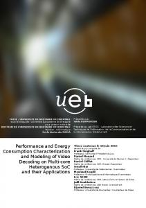 Performance and Energy Consumption