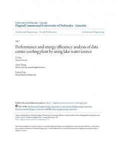 Performance and energy efficiency analysis of data center cooling
