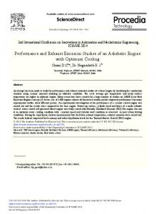 Performance and Exhaust Emission Studies of an Adiabatic Engine ...