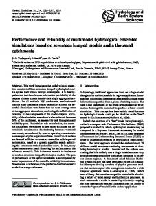 Performance and reliability of multimodel hydrological ensemble ...