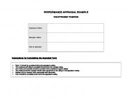 PERFORMANCE APPRAISAL EXAMPLE - Premier Performance