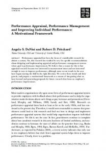 Performance Appraisal, Performance Management and Improving ...