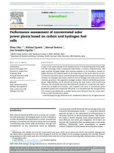 Performance assessment of concentrated solar power