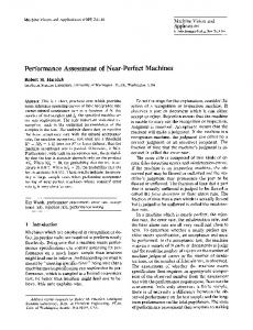 Performance assessment of near-perfect machines - Robert Haralick