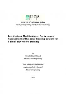 Performance Assessment of the Solar Cooling System