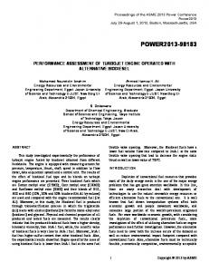 performance assessment of turbojet engine operated