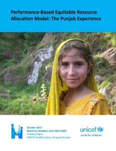 Performance-Based Equitable Resource Allocation Model - Unicef