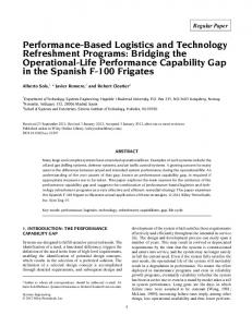 Performance-Based Logistics and Technology Refreshment Programs