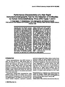 Performance characteristics of a new rapid immunochromatographic ...