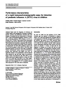 Performance characteristics of a rapid immunochromatographic assay ...