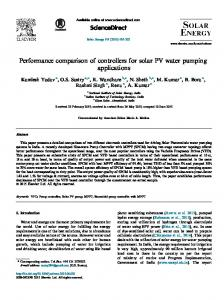 Performance comparison of controllers for solar PV water ... - Tag Solar