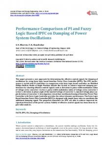 Performance Comparison of PI and Fuzzy Logic Based IPFC on ...