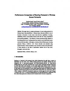 Performance Comparison of Routing Protocols in ...