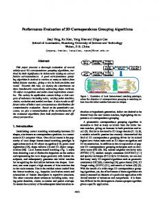 Performance Evaluation of 3D Correspondence ...