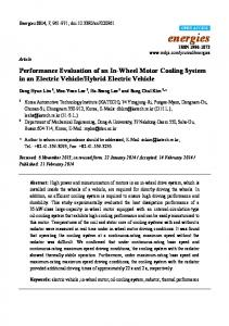 Performance Evaluation of an In-Wheel Motor Cooling System ... - MDPI