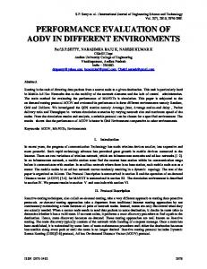 performance evaluation of aodv in different ...