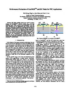 Performance Evaluation of CoolMOS TM and SiC Diode for PFC ...