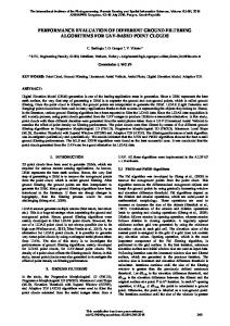 performance evaluation of different ground filtering ... - Volumes