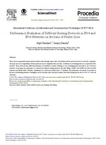 Performance Evaluation of Different Routing Protocols ... - ScienceDirect