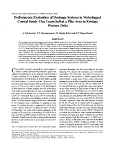 Performance Evaluation of Drainage Systems in ...