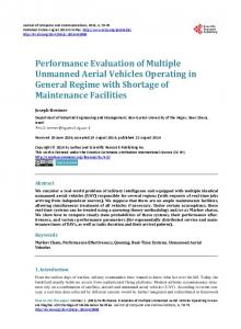 Performance Evaluation of Multiple Unmanned Aerial Vehicles ...